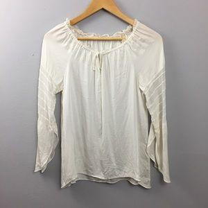 Elie Tahari Bell Sleeve Silk Blouse